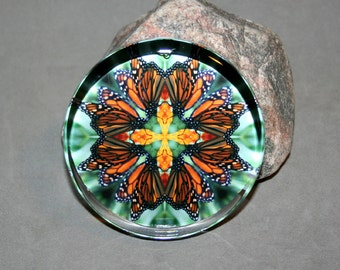 Monarch Butterfly Paperweight  Boho Chic Mandala New Age Sacred Geometry Hippie Kaleidoscope Unique Boss Gift Teacher Gift Timeless Treasure