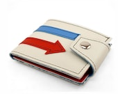 All Mod Cons Arrow Wallet 60s Pop Vegan Vinyl Billfold- White Red and Blue