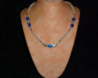 Hemp Necklace Blue Delight