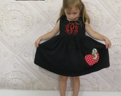 Back to School Dress, Appliqued Dress, Embroidered Dress, Monogrammed Dress, Toddler Dress, Summer Dress, Sundress