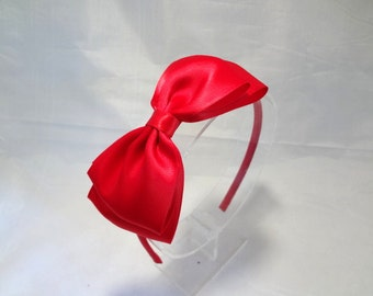 Big Red Bow Headband / Snow White Headband / Red Bow Headband / Girls Hair Accessories / Adult Hair Accessories / Snow White Bow Headband