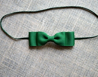 Forest Green Baby Bow Headband. Dark Green Hair Bow Headband. Hair Bow Headband. Baby Hair Accessories. Baby Girls Hair Accessories. Green