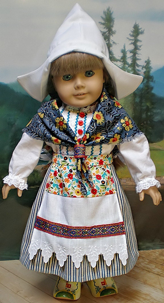 American Girl Doll Clothes Kirsten 8 Pc Dutch Outfit Hat