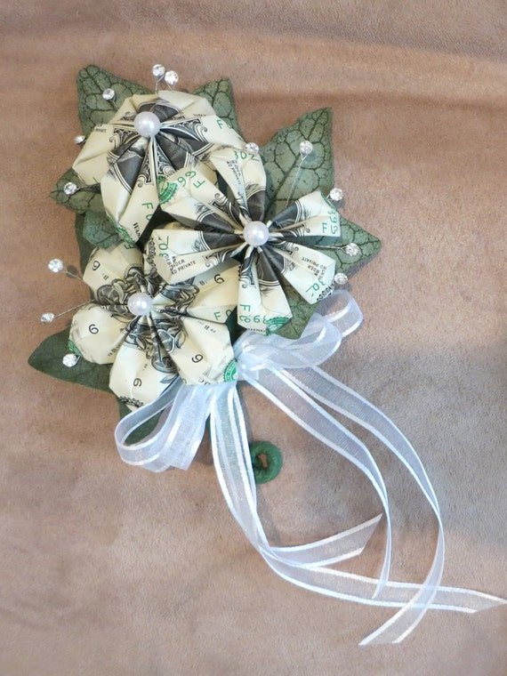 how to make money making wedding cakes money corsage one dollar bills for your special 15974