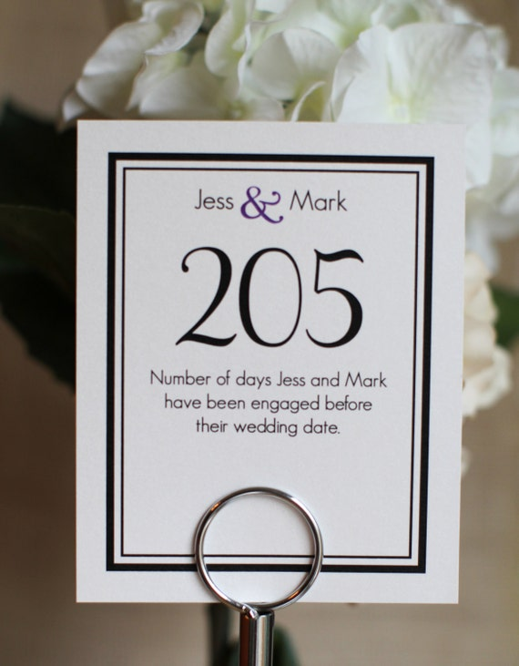 Table Names With Meaning Wedding Sign On Pearlized Card Stock