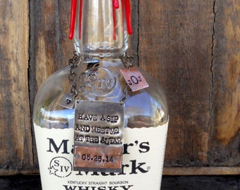 Have a Sip and Meet Me at the Altar!  CUSTOM PERSONALIZED Bottle Tag - Wedding Day Gift for Groom. Unique Idea for Groom's Gift. Keepsake