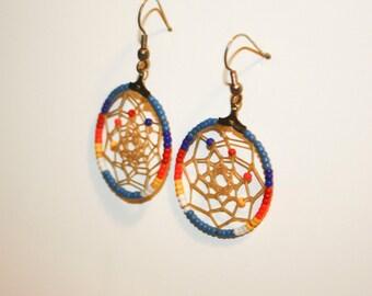 Native American Dreamcatcher Beaded Earrings