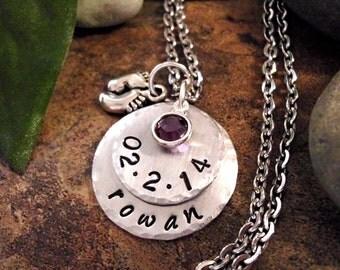 SUPER SALE New Baby Jewelry, Personalized Jewelry, New Baby Necklace, Grandma Jewelry, New Mom Jewelry, Birth Jewelry