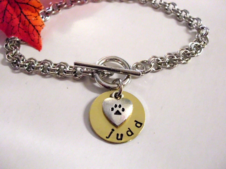 Dog Bracelet Dog Jewelry Paw Jewelry Paw Print Bracelet
