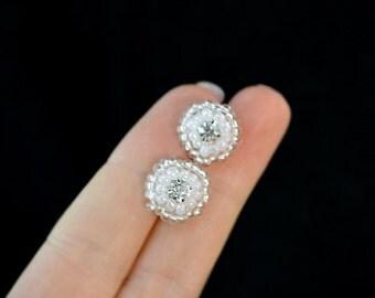 Sparkling Bridal Post Earrings