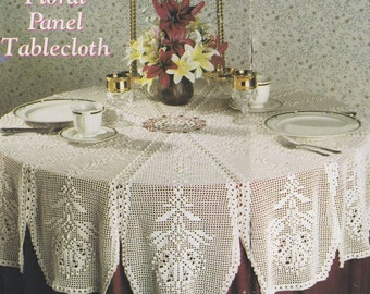 Free Crochet Patterns For Oval Tablecloths : FILET CROCHET ROUND TABLECLOTH PATTERN CROCHET