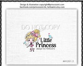 Custom Premade Logo Design GIRL logo sketch little girl tutu logo photography logo business logo boutique by princess mi logo1261-2