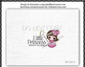 Custom Premade Logo Design - sketch hand drawn girls princess bow logo photography business logo boutique by princess mi logo1110-3