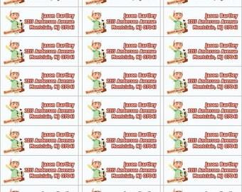 Handy Manny return address label, DIY PRINT return labels, handy manny personalized return address lables, disney address labels