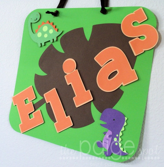 CLOSING SALE - See Homepage for Details! - Dinosaur Party Door Sign - rrroaring dino party collection