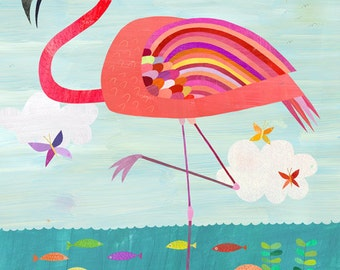 Very Pink Flamingo, Canvas Art Print