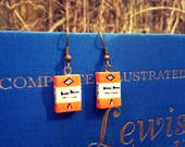 Penguin Book Dangle Earrings by Coryographies (Made to Order)