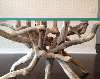 Driftwood Tangle Table Base for a glass top