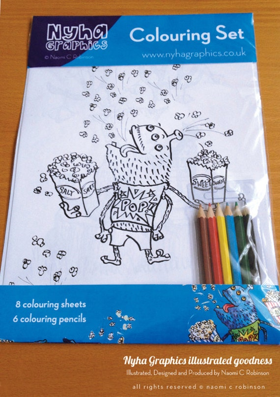 Colouring Page Set - Monsters & Boys Kids Set - Stocking Stuffer