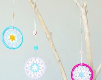Kid's Room/Nursery Decor - Crocheted Granny Circles