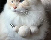 pomPOM cat hair necklace