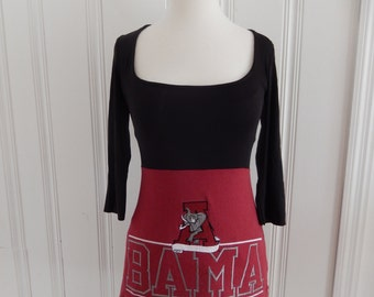 One of a Kind Gameday Shirt made w/ Alabama Tshirt - XSmall - On Sale and Free Shipping