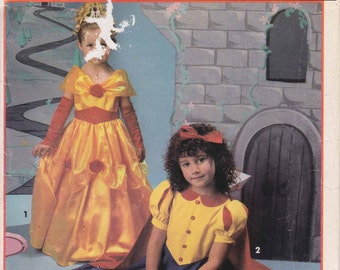 Princess Costume Pattern Fairy Tale Gown Snow White Childs Size 2 - 6  Uncut Simplicity 0666