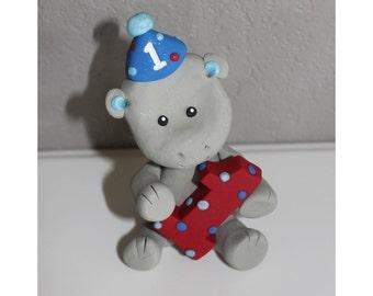 Custom Hippo Cake Topper for Birthday or Baby Shower