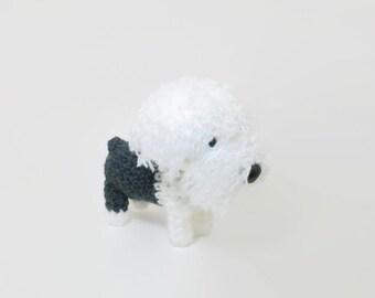 Old English Sheepdog Amigurumi Dog Stuffed Animal Crochet Puppy Plush Doll / Made to Order
