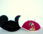 Vintage Pair of Disney Mickey Mouse Hats with Ears - Retro Disney Nursery Decor, Collectible Souvenir