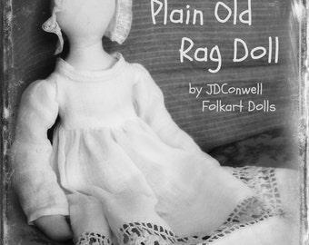 Plain Old Rag Doll e-pattern by JDConwell Folkart Dolls