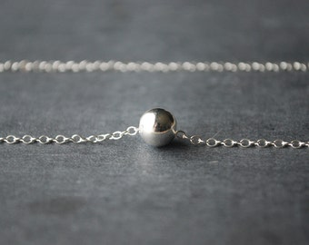 Silver Ball Necklace Sterling Silver