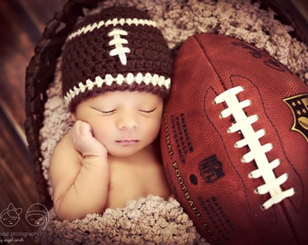 Newborn Photo Prop Baby Boy Football Hat