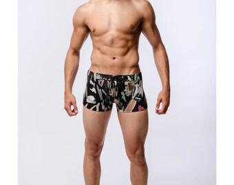 Men's Brush Stroke Swimsuit Trunk