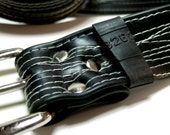 Recycled Bike Tube Belt - Choose Any Color - STITCHED