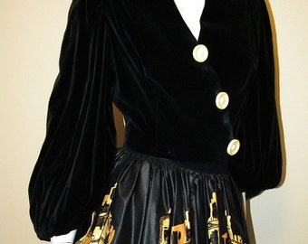 40s Vintage Velveteen Bolero Jacket