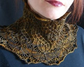 PDF pattern for 'Lierne' (Tierceron II) Cowl Collar - Intermediate Skill Level - lace and smocking