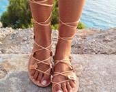 leather sandals ,gladiator sandals, Greek leather lace-up Sandals,handmade sandals