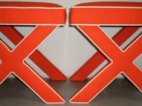 X Benches - With Contrast Piping/Welt  - With ANY Fabric