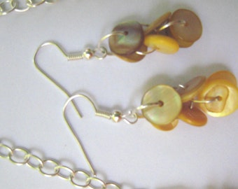 Earrings - Moroccan Heshi Shell  - Yellow!