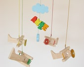 Airplane baby mobile with custom name sign