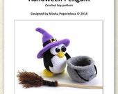Halloween Penguin - pdf crochet toy pattern - amigurumi pattern - photo tutorial