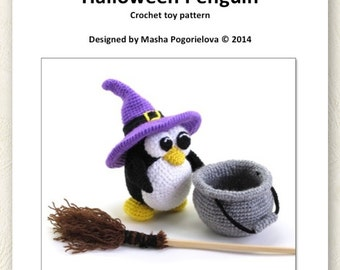 Halloween Penguin - pdf crochet toy pattern - amigurumi pattern - photo tutorial