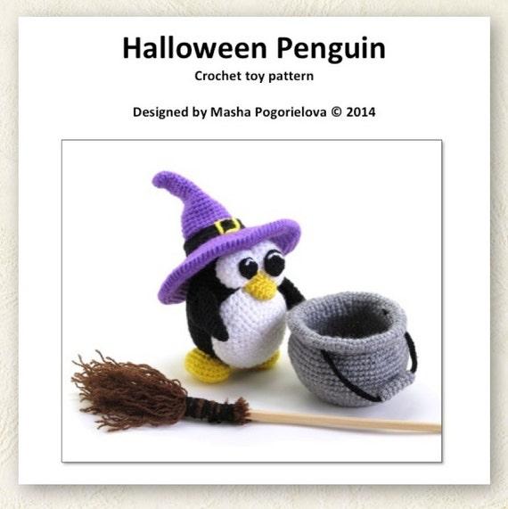 Halloween Penguin pdf crochet toy pattern amigurumi