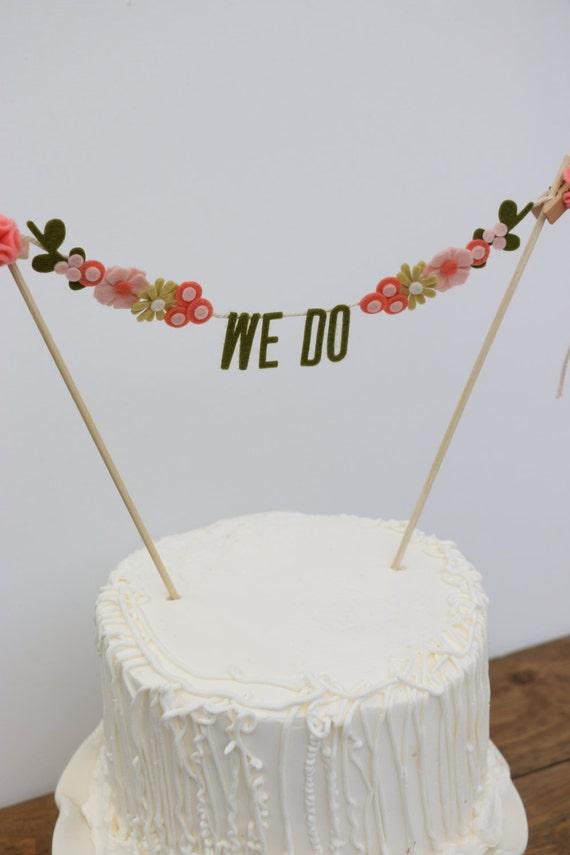 Banner Wedding Cake Topper Wedding Cake Banner Wedding