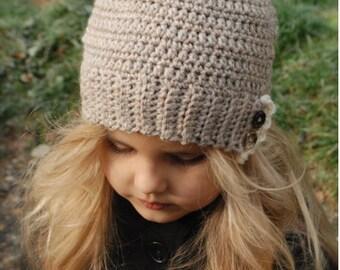 CROCHET PATTERN-Floreyn Hat (Toddler, Child, Adult sizes)