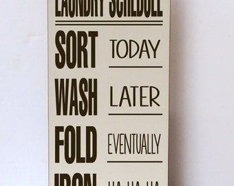 Laundry Wall Decor laundry schedule laundry room decor laundry room sign