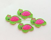 Embroidered Feltie Applique- Water Turtle Felt Applique - Sea Creature Embroidered Felt Stitches -Whale Applique-UNCUT (Set of 4)