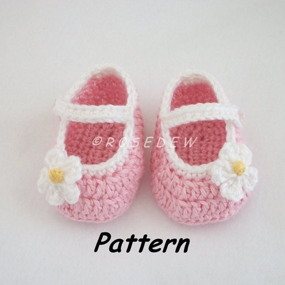 Instant Download to PDF Crochet PATTERN: Basic Mary Jane Baby