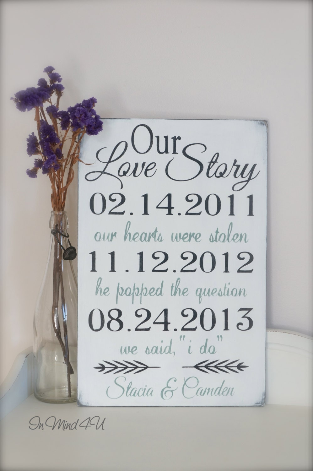 Wedding Gift A Year Of Dates : Wedding Date Sign Important Dates Sign Custom Sign